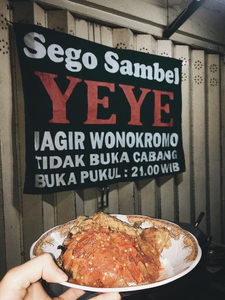 Sego Sambel Yeye